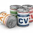 Cv can, Conceptual image of resume. — Stockfoto #39964675