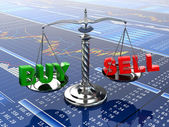 Stock market concept. Scale on financial graph. — Stock Photo