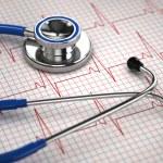 Stethoscope and ECG cardiogram. Medicine concept, — Stock Photo