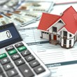 Mortgage calculator. House, noney and document. — Stock Photo #42678537