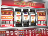 Jackpot on slot machine. — Stock Photo