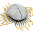 Human brain as computer chip. Concept of CPU. — Stock Photo #43098051