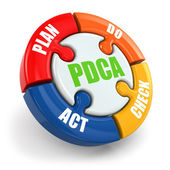 PDCA. Plan, do, check, act. — Stock Photo