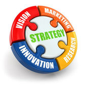 Strategy is vision, research, marketing, innovation. — Stock Photo