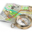 Navigation and gps concept. Compass and map. — Stock Photo #44946481