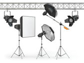 Photo studio equipment — Stock Photo