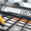 Concept of costs calculation, Calculator. — Stock Photo #45745303