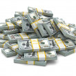 Heap of packs of dollars. Lots of cash money. — Stock Photo #45934181