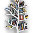 Tree of knowledge. Bookshelf on white background. — Stock Photo #47264565