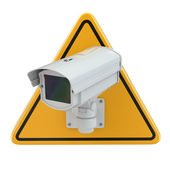 CCTV Camera. Video surveillance sign — Stock Photo