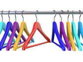 Clothes hangers — Stock Photo