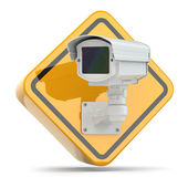 CCTV Camera. Video surveillance sign. — Stock Photo