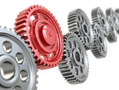 Machine gears. Teamwork concept. — Stock Photo