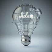 Light bulb exploding. Concept of idea. — Stock Photo