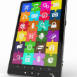 Tablet pc software. Screen from puzzle with icons. — Stock Photo #9561299