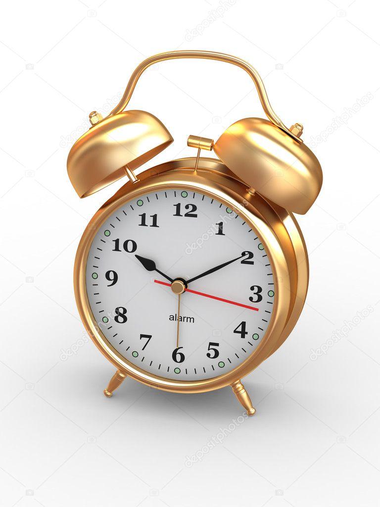 Ten O 39 Clock Old Fashioned Alarm Clock 3d Stock Photo