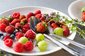 Berries in a plate — Stock Photo