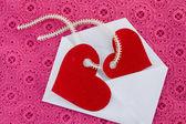κόκκινες καρδιές — Φωτογραφία Αρχείου