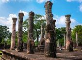 Granite columns the ancient city of Polonnaruwa in Sri Lanka. — Stock Photo