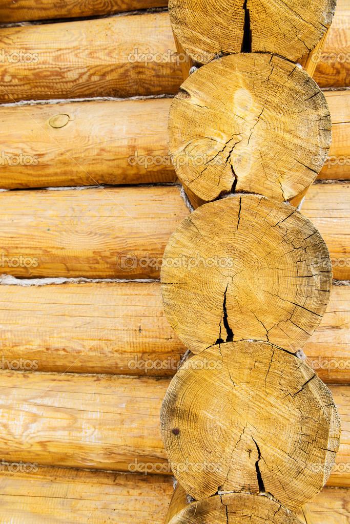 Registros redondos de madera de la pared de la casa foto for Antecomedores redondos madera