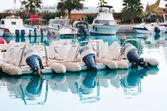 Motor boats and yachts — Stock Photo