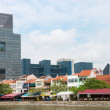 Stockfoto: Restaurants on Boat quay in Singapore