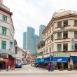 Street in colonial district, Singapore — Stock Photo #13560892