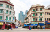 Street in colonial district, Singapore — Stockfoto