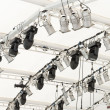 Lighting equipment under roof — Stock Photo