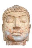 Boeddha hoofd geïsoleerd op witte achtergrond — Stockfoto