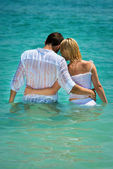 Romantic vacation on the sea — Stock Photo