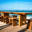 cafe on a tropical beach — Stock Photo
