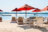 Cafe on a tropical beach — Stock Photo