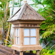 Balinese lanterns in the tropical garden — Stock Photo