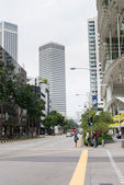 Street in the Singapore Downtown — Stock Photo