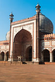 Entrance Jama Masjid Mosque, Old Dehli, India — Stock Photo