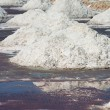 Salt piles in salt farm, India  — Stok fotoğraf