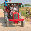 Country travel by tractor, India — Stock Photo #18362153