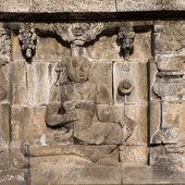 Ulgi w świątyni borobudur u jawa, indonezja — Zdjęcie stockowe