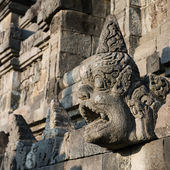 Carved drain at Borobudur temple on Java, Indonesia — Stok fotoğraf