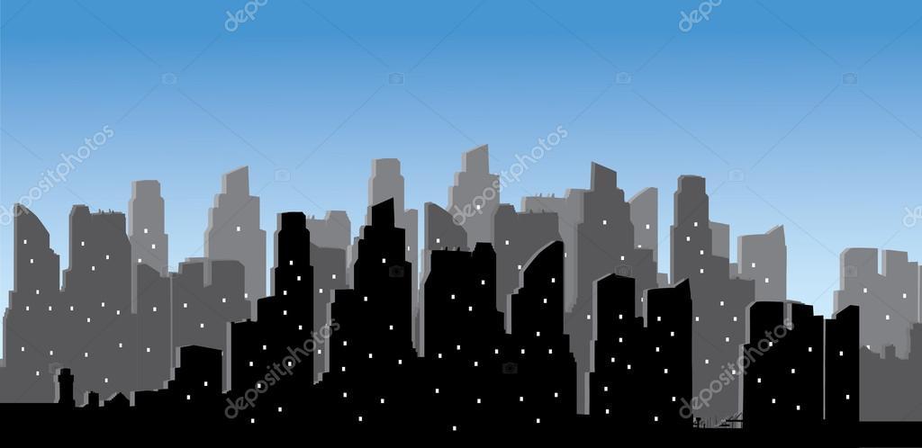 城市天际线 矢量_城市天际线矢量图