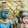 Shiva with his  wife Parvati on traditional Hindu temple — Stock Photo