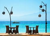 Café romántica en la playa — Foto de Stock