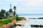 White lighthouse in Galle, Sri Lanka — Stock Photo