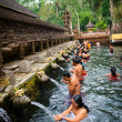 Purification in sacred holy spring water, Bali — Stock Photo