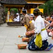 Balinese ceremony in the temple - Stock Photo