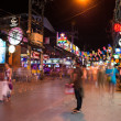 Stock Photo: Patong Banglroad at night, Phuket, Thailand