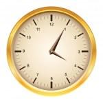 Vektor goldene Uhr — Stockvektor