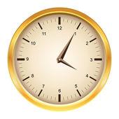 Vector golden clock — Stock Vector