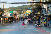 Patong Bangla road at day, Phuket, Thailand — Stock Photo